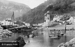Village From The Sea c.1870, Lynmouth