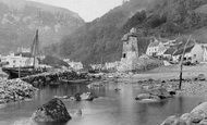 Lynmouth, Village From The Sea c.1890