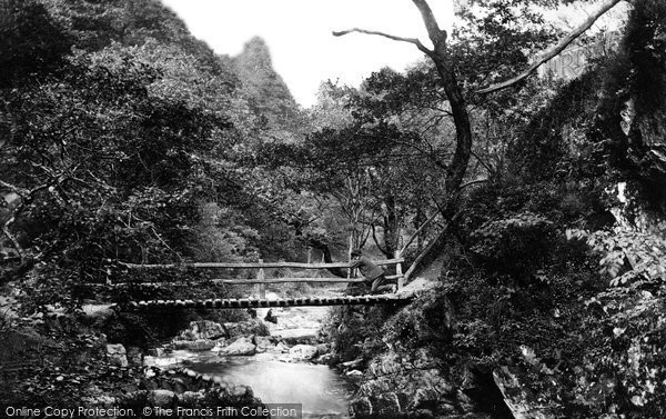Photo of Lynmouth, Watersmeet, Rustic Bridge 1890