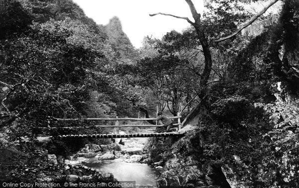 Lynmouth, Watersmeet, Ruske Bridge 1890