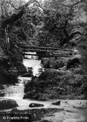 Watersmeet, Rustic Bridge c.1930, Lynmouth