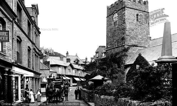 Lynton, Coach and four in the Village 1911