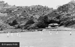 Lynton, Cricket At The Valley Of  Rocks c.1965