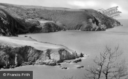 Lee Bay And Woody Bay From The Tower c.1950, Lynton