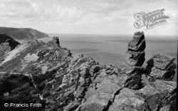 Lynton, Ragged Jack, Valley Of Rocks c.1965