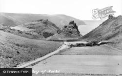 Lynton, Valley Of  Rocks c.1955