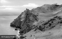 Valley Of The Rocks From Lee Abbey c.1950, Lynton