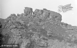 Lynton, Valley Of The Rocks, The White Lady c.1965