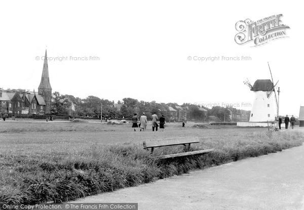 ,Lytham, the Windmill and Green c1950, Lancashire,