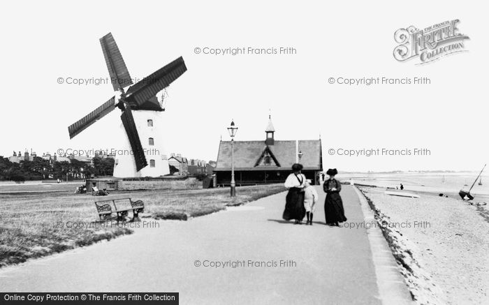 Lytham St Annes,The Windmill and Life Boathouse 1907,Lancashire