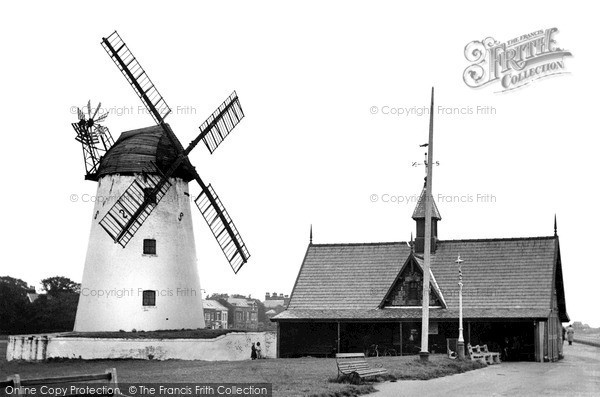 ,Lytham, the Windmill and Lifeboat Station c1955, Lancashire,