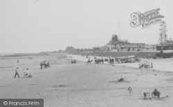 Mablethorpe, Amusement Park From The Beach c.1955