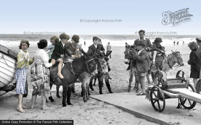Photo of Mablethorpe, Donkey Rides c.1950