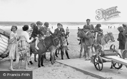 Mablethorpe, Donkey Rides On The Beach c.1950