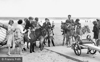 Mablethorpe, Donkey Rides on the Beach c1950