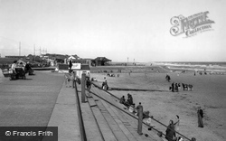 The Promenade And Beach c.1950, Mablethorpe