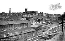 Macclesfield, Parish Church And Central Station c.1955