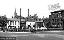 Macclesfield, Park Green & Cenotaph c.1955