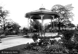 Macclesfield, Victoria Park, The Bandstand 1897