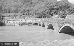 Machynlleth, Bridge And River Dovey 1968