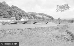 Machynlleth, Bridge Over The River Dovey 1968