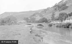 Machynlleth, The Bridge 1957