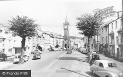 Machynlleth, The Lion Hotel And Clock Tower c.1960
