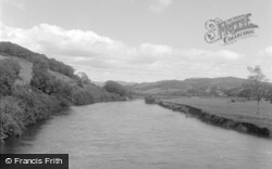 Machynlleth, The River Dovey 1956
