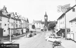 Machynlleth, The Wynnstay Arms Hotel And The Clock Tower c.1960