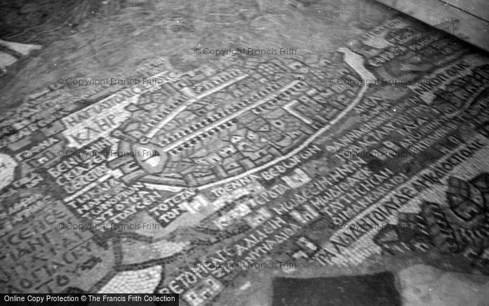 Photo of Madaba, The Mosaic Map 1965