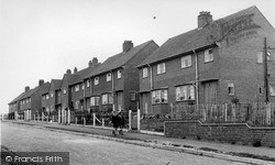 Madeley, The Moss Council Houses c.1955