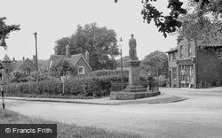 Madeley, The War Memorial c.1955