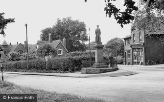 Madeley, the War Memorial c1955