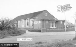 Madeley, Village Hall c.1965