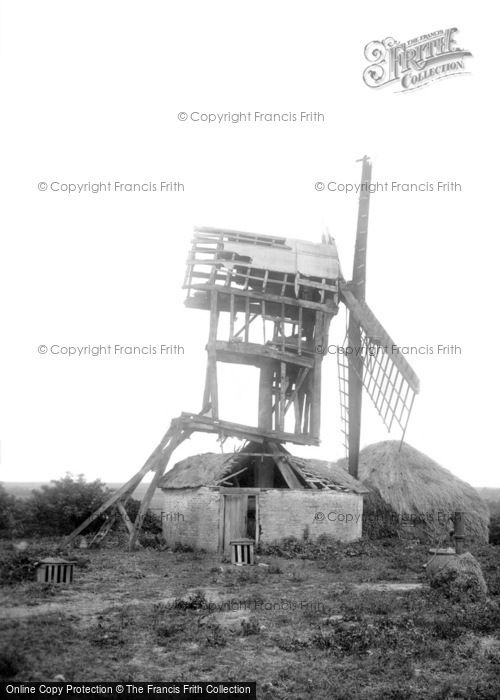 Madingley,the Ruined Windmill 1909,Cambridgeshire