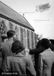 Madley, Church, The Vicar c.1950