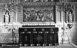 Church, The Reredos c.1870, Madresfield