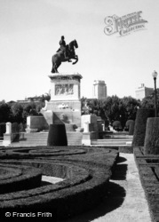 Madrid, Statue To Philip IV, Plaza De Oriente 1960