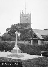 Madron, St Maddern's Church and War Memorial 1920