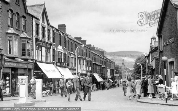 Photo of Maesteg, Talbot Street c1955
