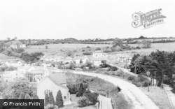 Maesycwmmer, Summerfield Lane And The Church c.1955