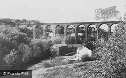 Maesycwmmer, The Wool Factory And Viaduct c.1955