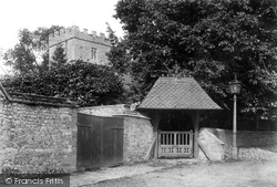 St Mary's Church And Lychgate 1906, Maiden Newton