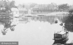 Maidenhead, Boathouses And Thames Hotel 1893