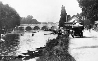 Maidenhead, the River Thames and Bridge 1906