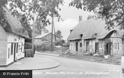 Maids Moreton, Thatched Cottages c.1960