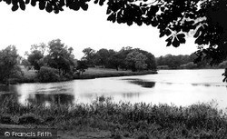 Maidstone, Mote Park, The Lake c.1955