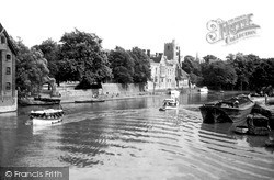 Maidstone, River Medway And Church c.1955