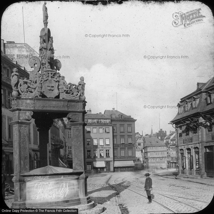 Photo of Mainz, Marktbrunnen 1886