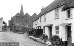 Old Cottages And All Saints Church 1927, Malborough